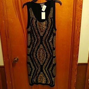 Neiman Marcus black sequin dress